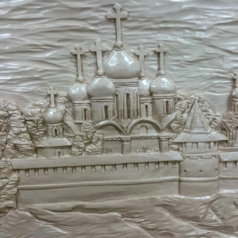 Спасо-Ефимиев монастырь г. Суздаль. Резьба по дереву. Древесина липы . 740х340х25мм