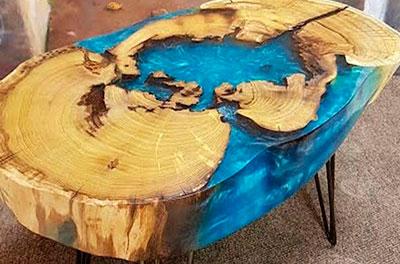 река стол из эпоксидной смолы от Ассамблея ах мир