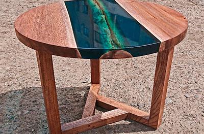 аРека река стол из эпоксидной смолы от Ассамблея ах мир
