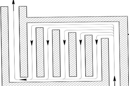 Паралельная система газоходов печи