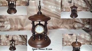 Настольные часы из термоясеня